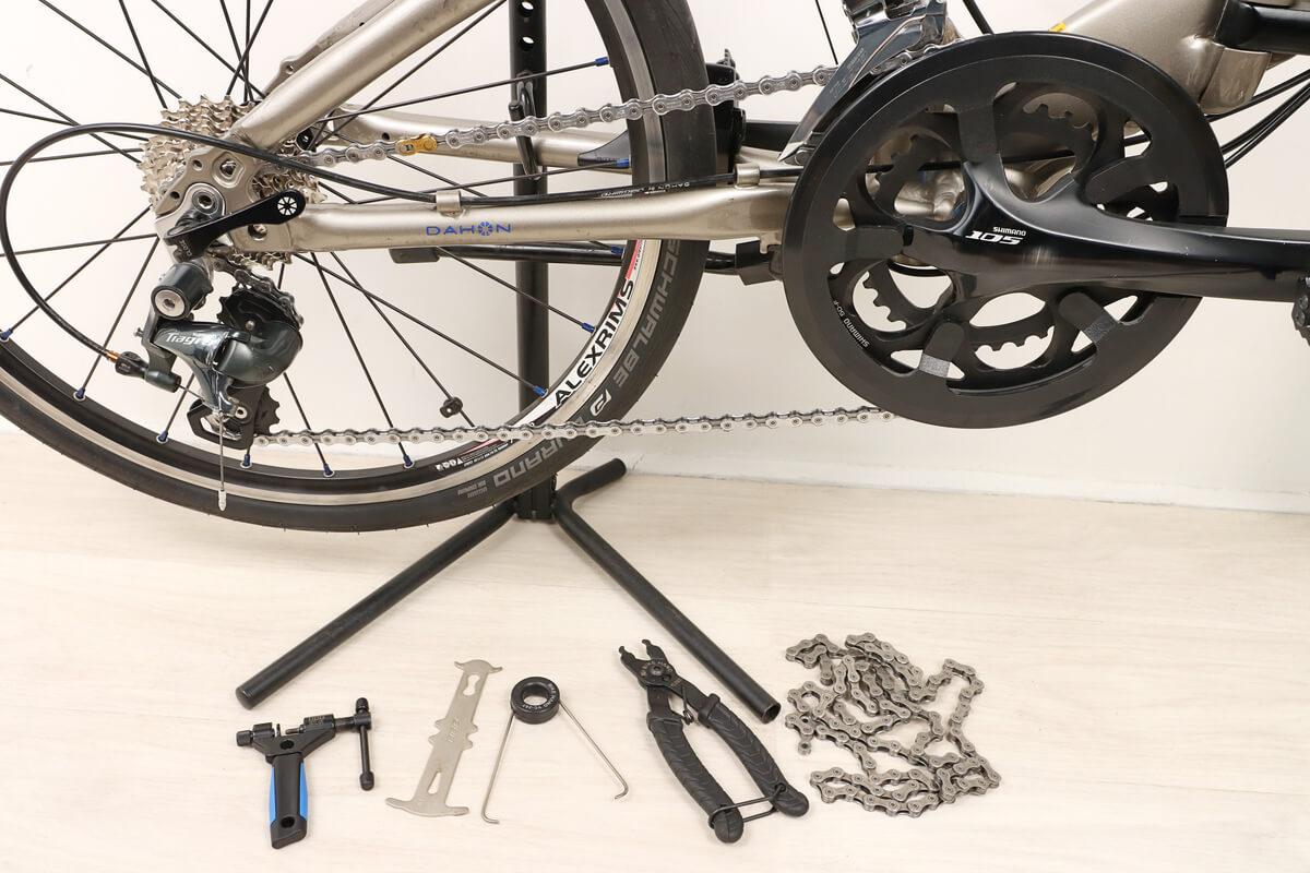 自転車のチェーンを交換する方法