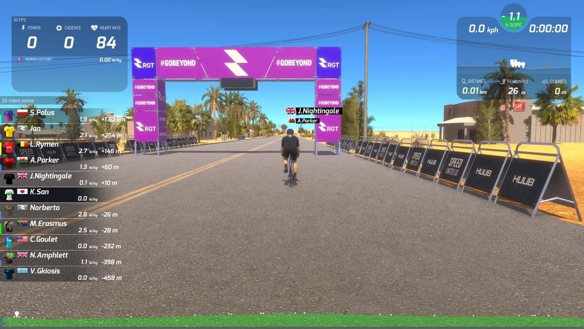 RGT Cyclingのプレイ画面