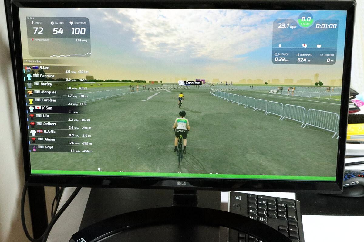 スマートトレーナーNOZA Sを使ってRGT Cyclingをプレイする