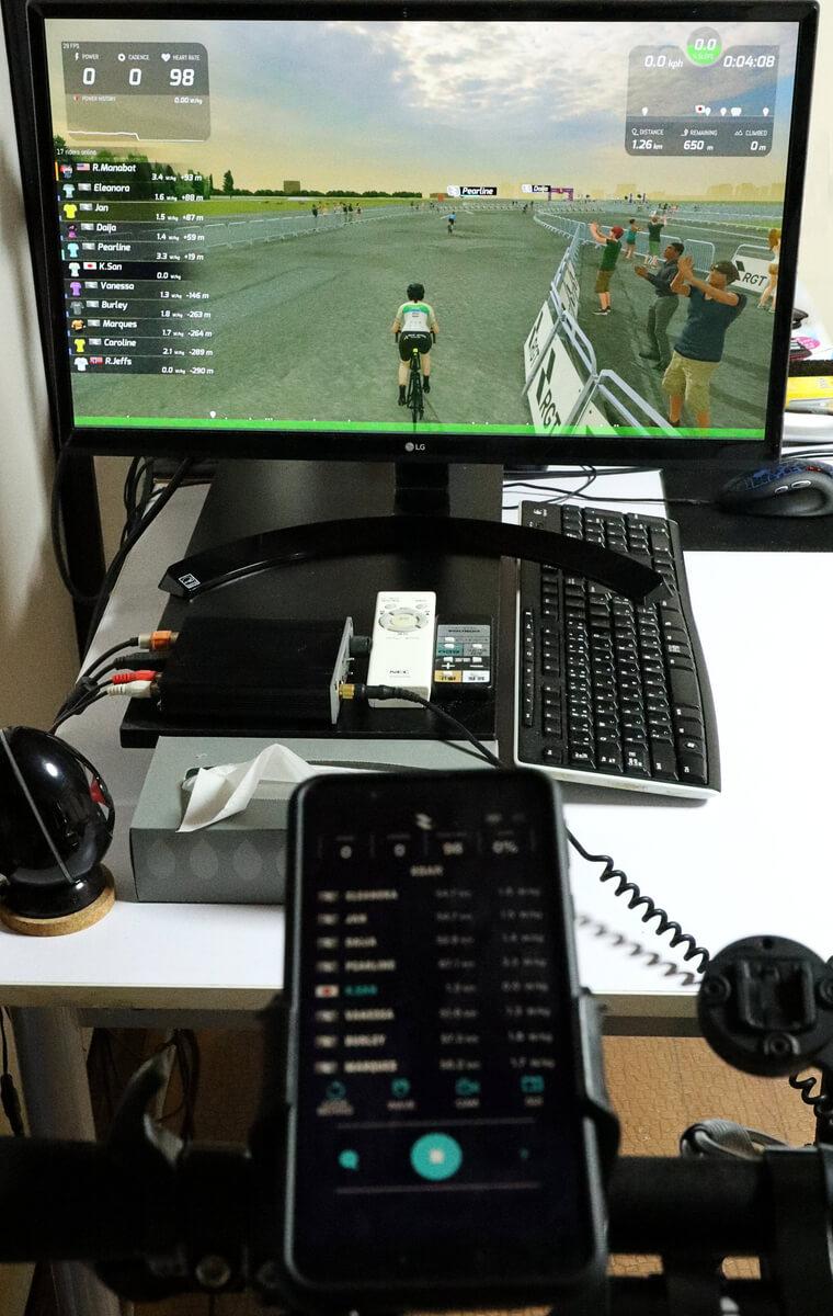 NOZA Sを使ってRGT Cyclingをプレイする