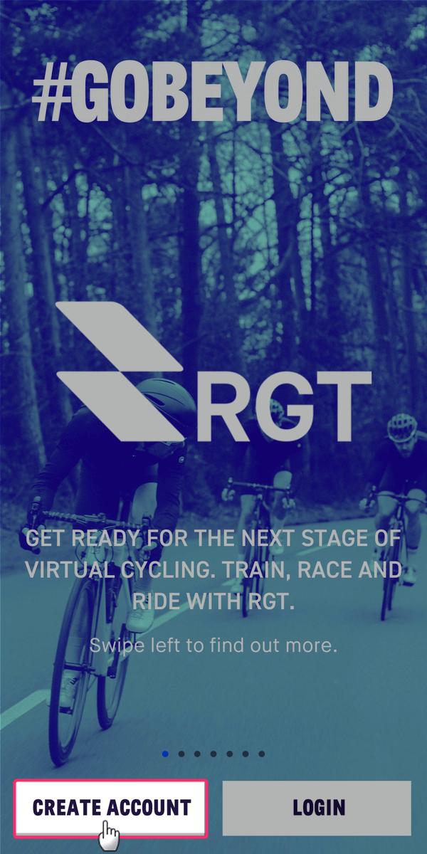 RGT Cyclingのスマホアプリをインストール