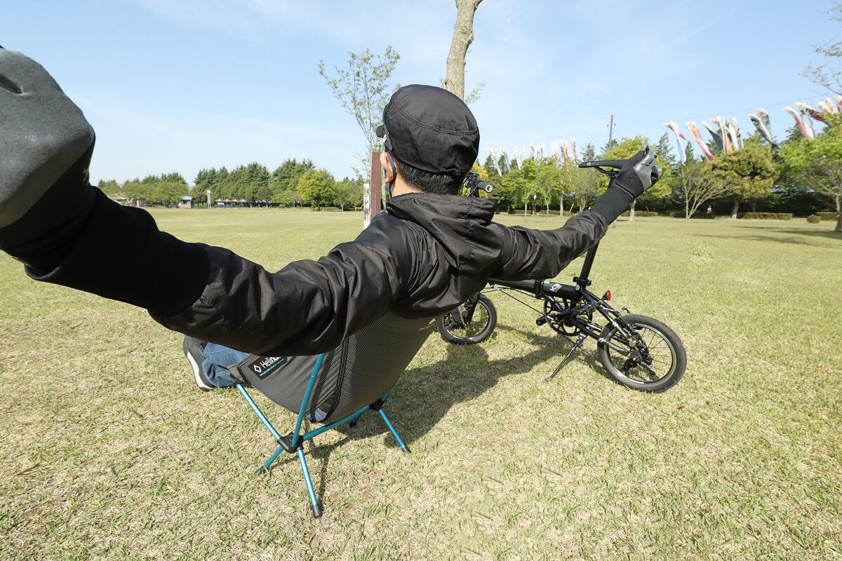ヘリノックス チェアゼロ を使って公園でチェアリング