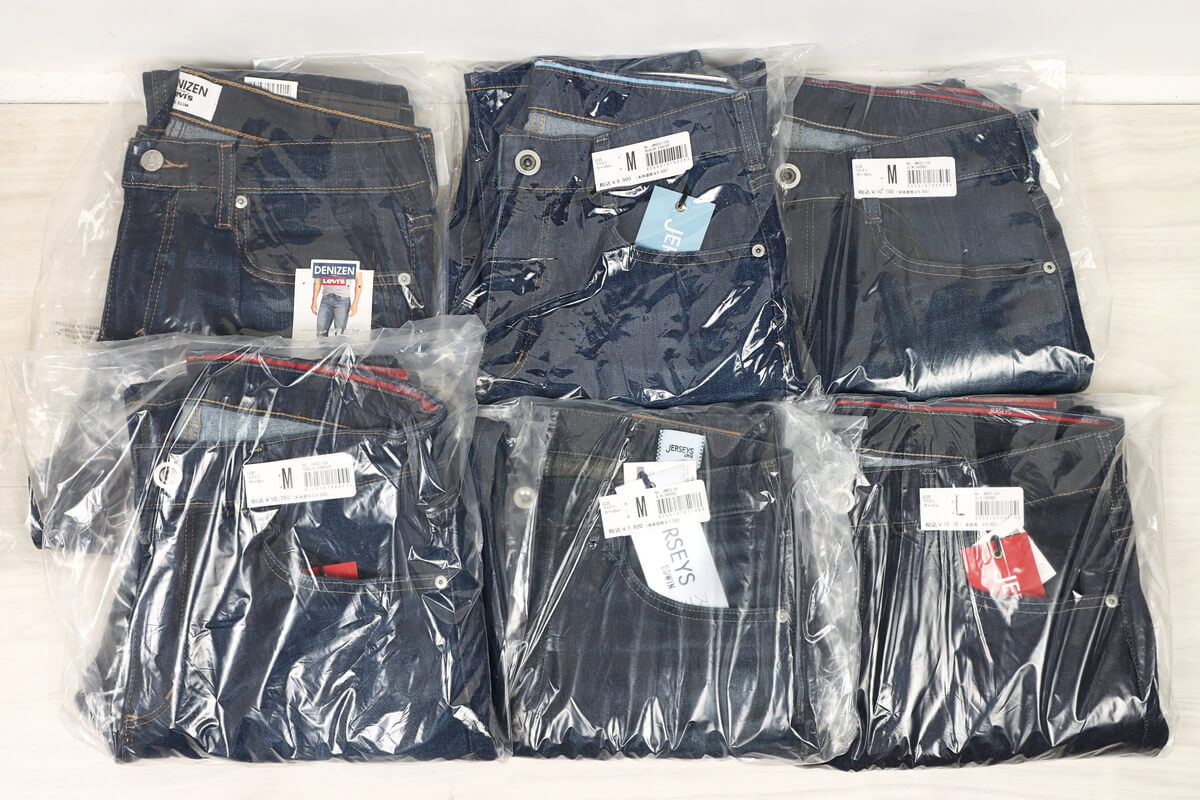 Amazonプライム ワードローブで注文した6着のデニムパンツ