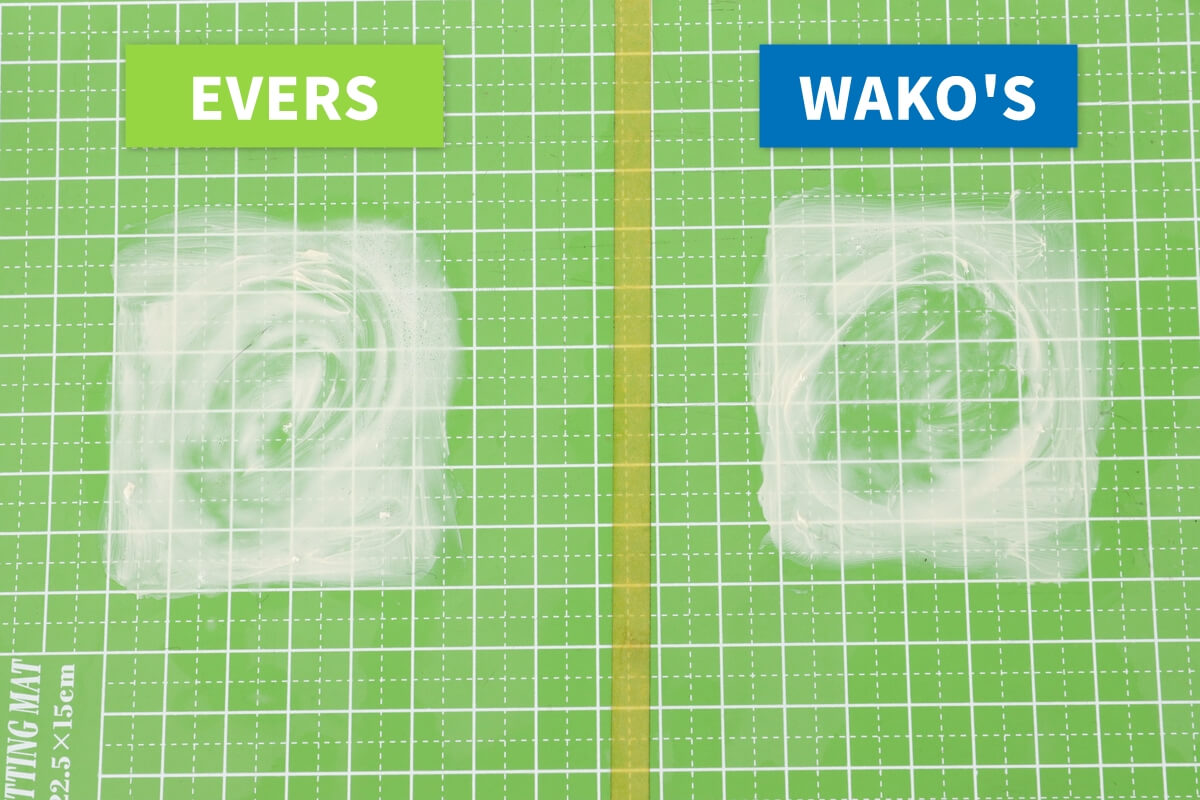 WAKO'SとEVERSマルチクリーナーのグリス汚れの洗浄力