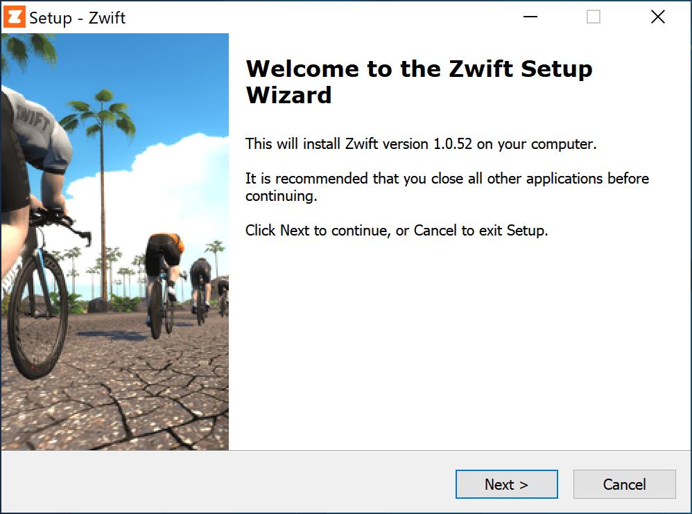 Zwiftをインストールする