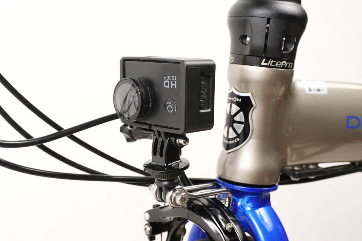 キャットアイ CFB-100にアクションカメラを固定する