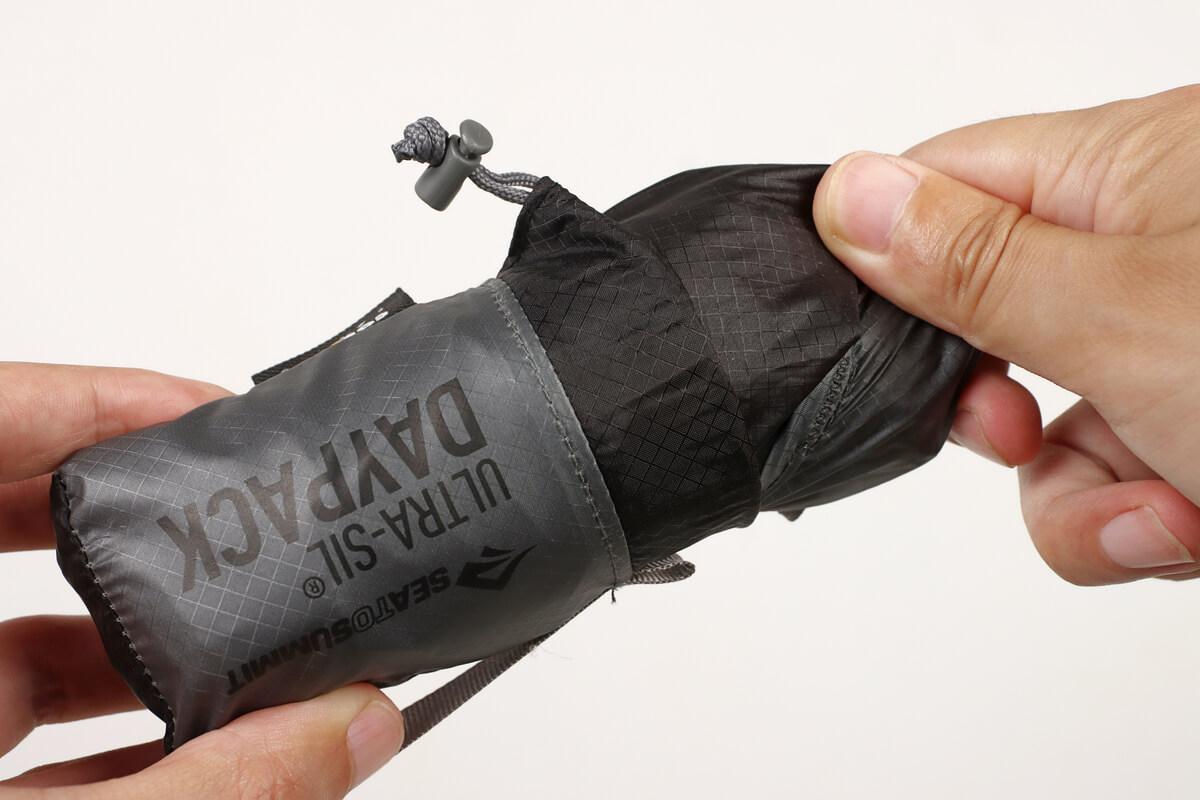 シートゥーサミット ウルトラシルデイパックは折りたたみ式のリュック