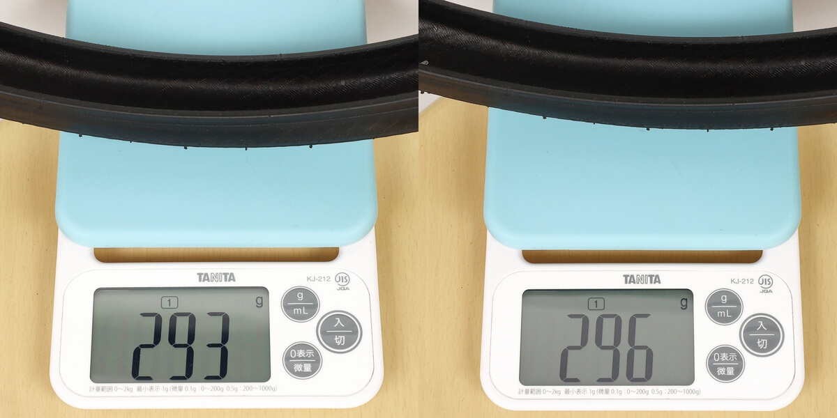 シュワルベワン 451用の実測重量