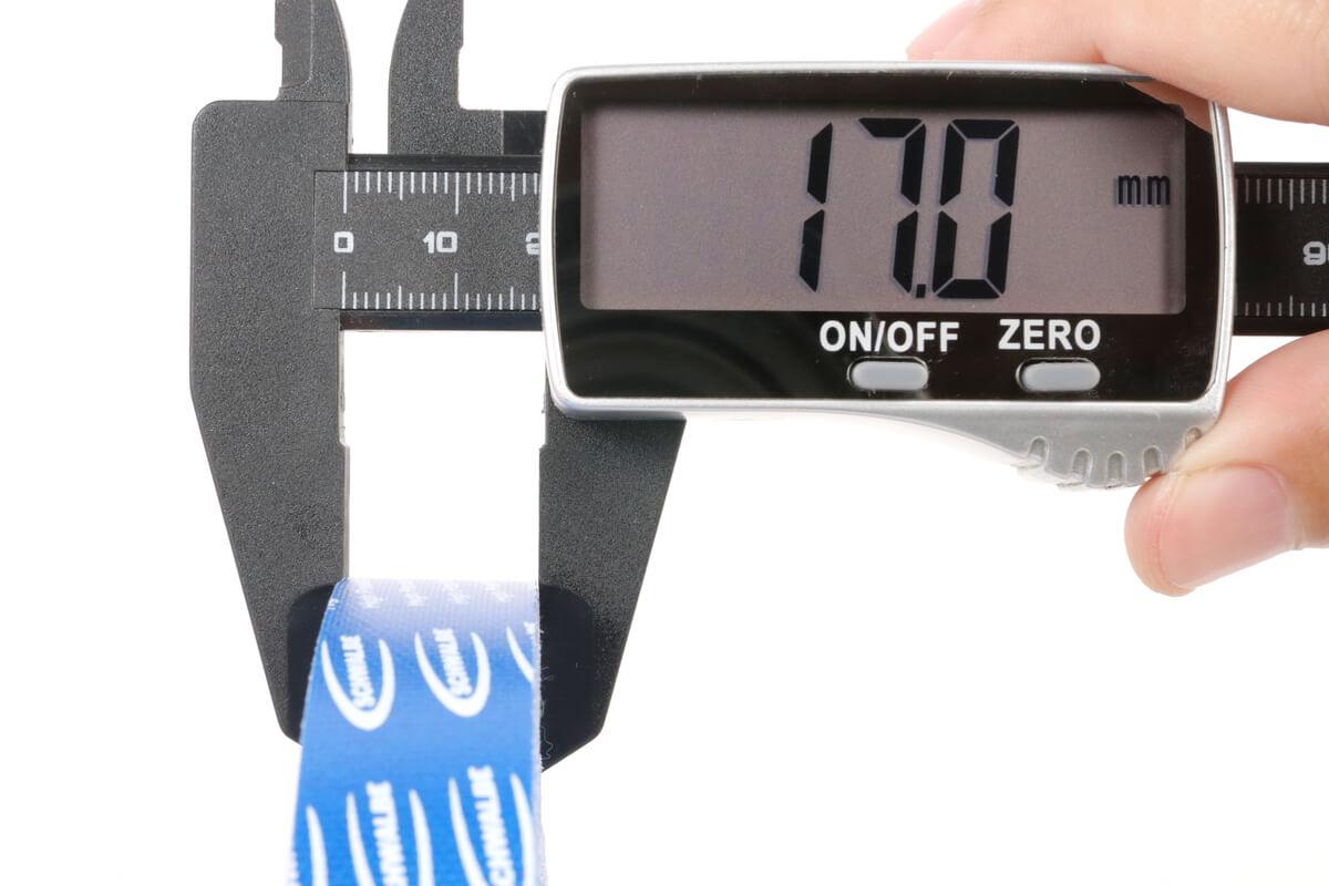 SCHWALBE ハイプレッシャー クロス リムテープの幅 実測値