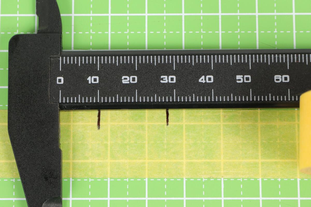 リムテープ幅を定規で測る
